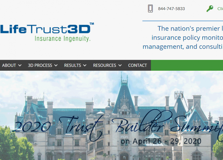 LifeTrust3D Website Redesign