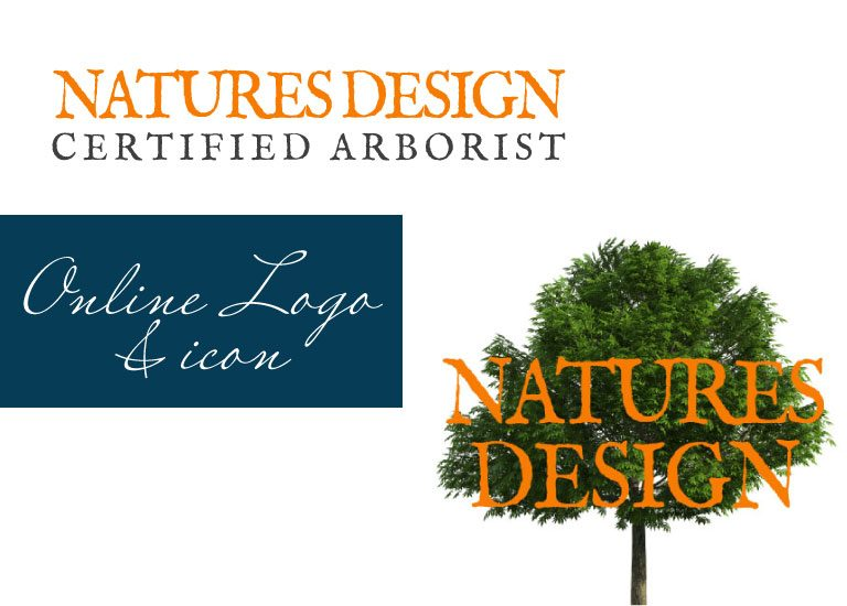 Natures Design online logo and icon