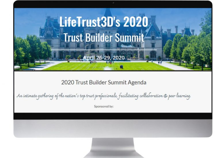 The LifeTrust3D Trust Builder Summit Agenda and Online Registration Page
